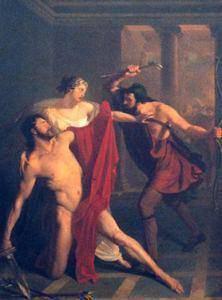 Ο θάνατος του Αλκιβιάδη. Έργο του Μικέλε ντι Νάπολι.