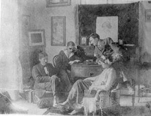 Ο Βάρναλης νεαρός στην Κρήτη μαζί με τον Νίκο και τη Γαλάτεια Καζαντζάκη