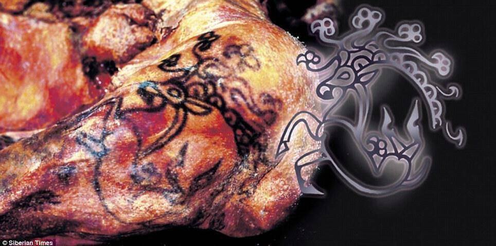 Τέλεια διατηρημένο το σώμα της Πριγκίπισσας Ukok , ο οποίος πέθανε ηλικίας 25 ετών , είχε πολλά τατουάζ στο σώμα της