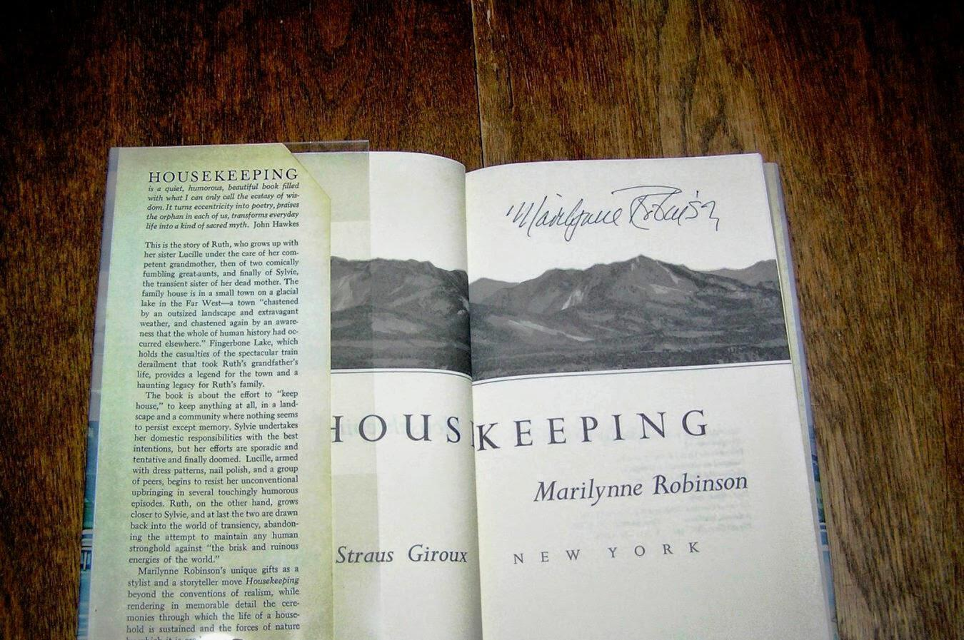 Marilynne-Robinson-Housekeeping-Signed