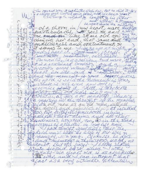 merilin robinson χειρόγραφο