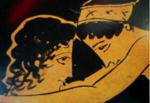 Λεπτομέρεια από μία αττική ερυθρόμορφη οινοχόη. Ζωγράφος του Σουβάλωφ, π. 430 π.Χ. Από τους Λοκρούς (Ιταλία)