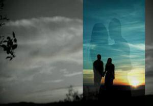 stock-footage-a-silhouette-of-a-couple-kissing-on-black-and-white-medium-shot