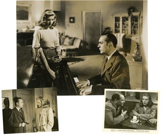 Σκηνή από την ταινία 'Ο έμπιστος Πράκτορας' της Warner Bros (1945) με τον Charles Boyer  και την Lauren Bacall.