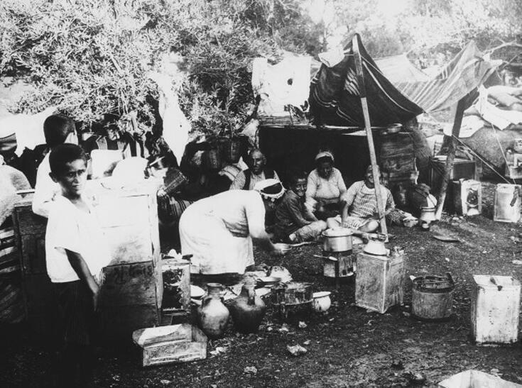 Πρόσφυγες από την Αλεξανδρέττα στην Αντζάρ, στην Κοιλάδα Μπέκαα, το 1940