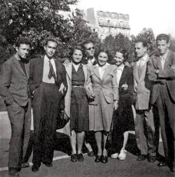Μερικοί από τους ταξιδιώτες του Ματαρόα. Ανάμεσά τους οι Μέμος Μακρής, Γιώργος Καρούζος, Κατερίνα Καχραμάνη και Κώστας Παπαϊωάννου.