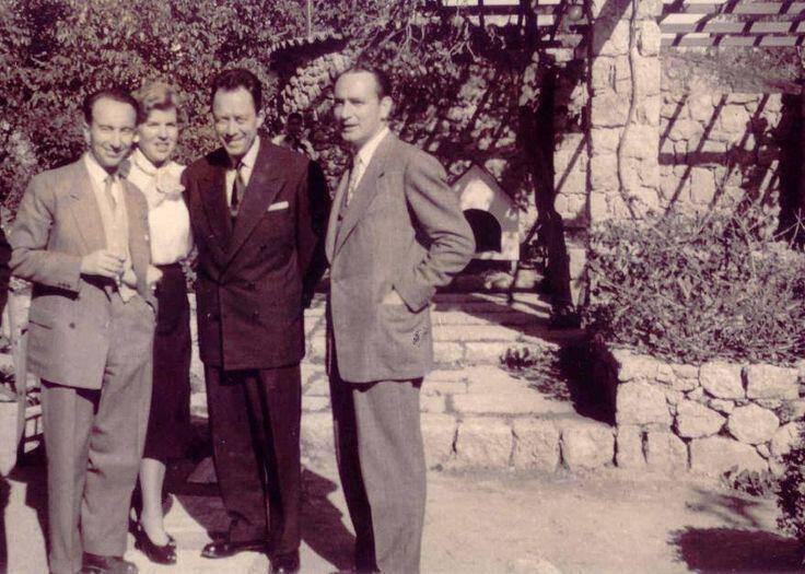 Ο Ροζέ Μιλλιέξ μαζί με τον Αλ. Καμύ στη μεταπολεμική Αθήνα.