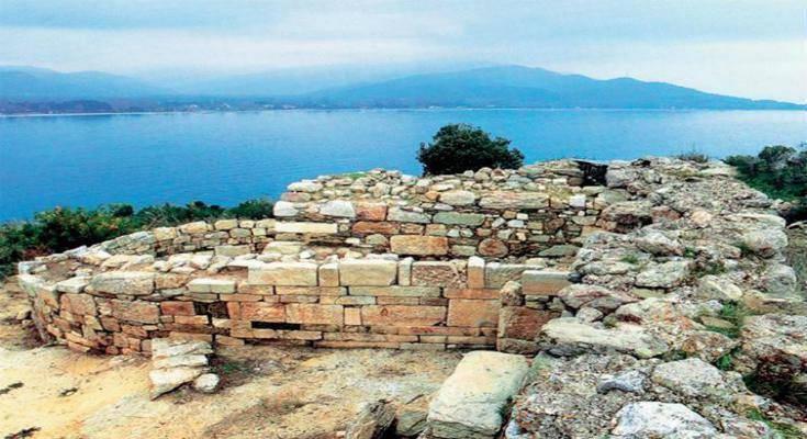 Ο χώρος που τοποθετείται το ταφικό μνημείο στα Στάγειρα