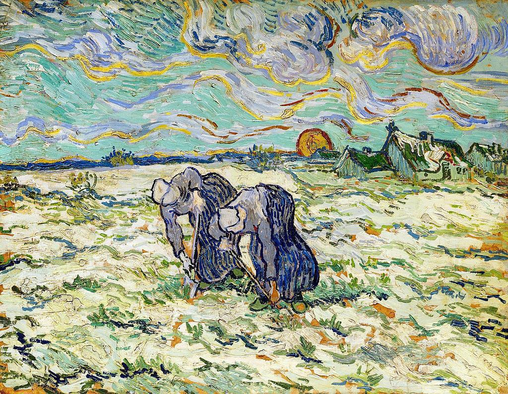 Van Gogh, Two Peasant Women Digging, 1890